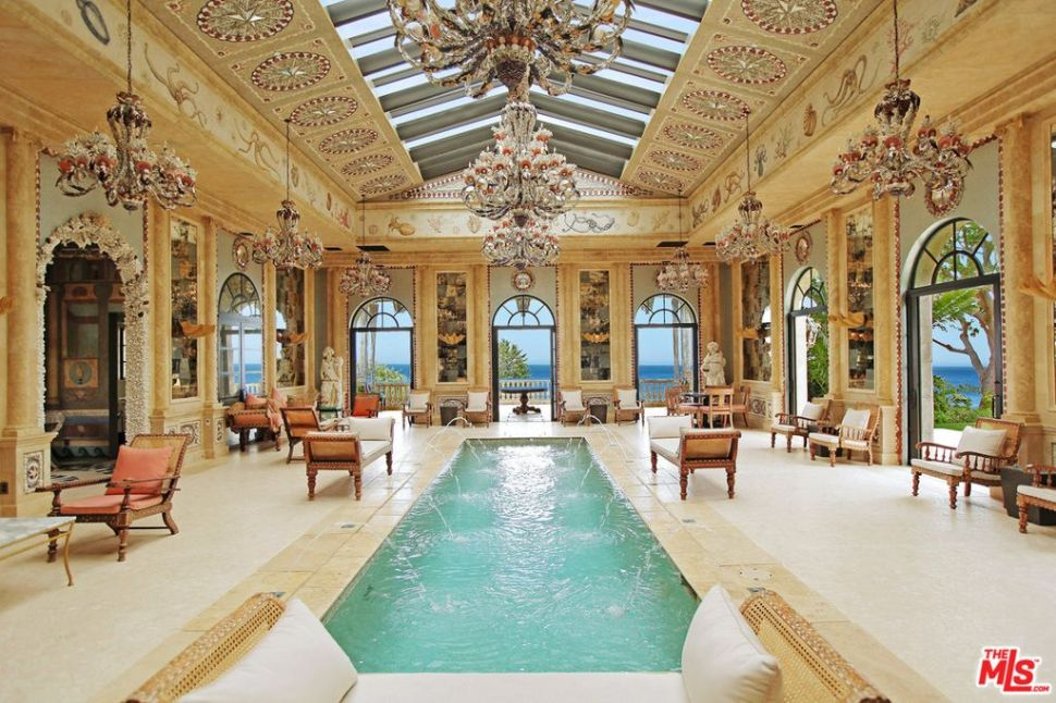 The pool pavilion just might be the most lavish part of the entire home.