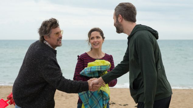 Ethan Hawke, Rose Byrne and Chris O'Dowd in Juliet, Naked.