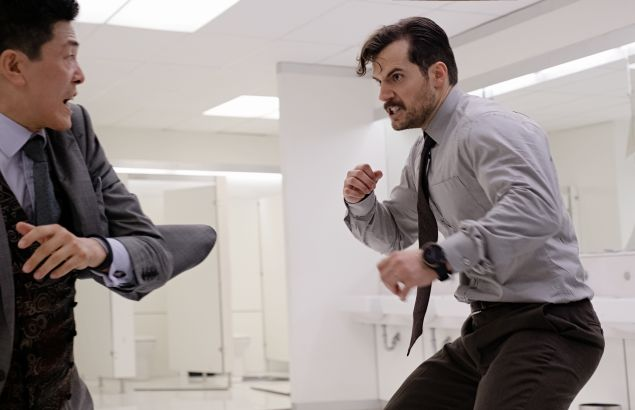 Liang Yang and Henry Cavill in 'Mission: Impossible - Fallout.'