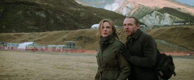 Left to right: Rebecca Ferguson as Ilsa Faust and Simon Pegg as Benji Dunn in 'Mission: Impossible - Fallout.'