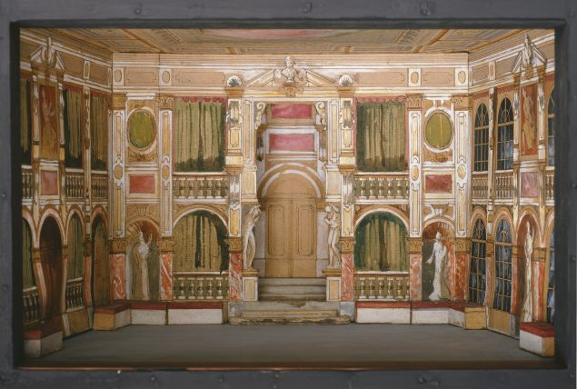 Scenery for the 1903 Hofburg Theater production of The Conspiracy of Fiesko to Genoa