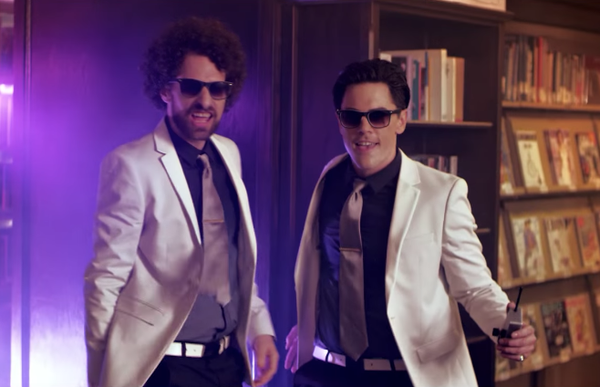 "Kappy and Sandoval in the ""T.I.P."" music video."