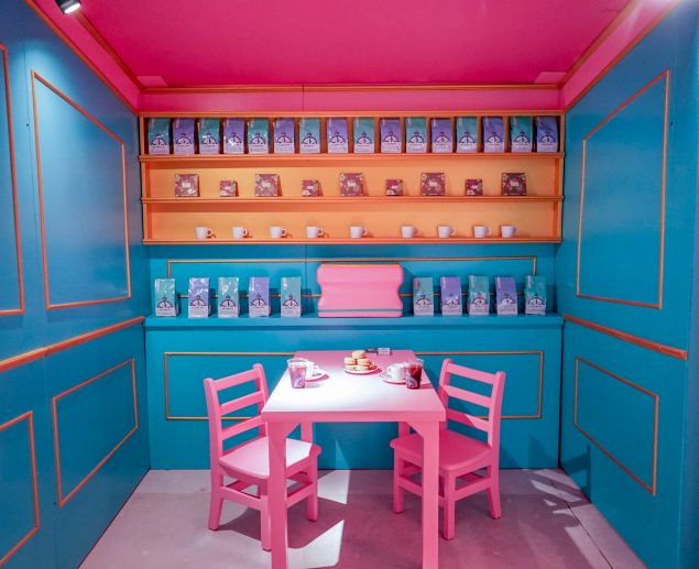 A room in the Winky Lux experience store.