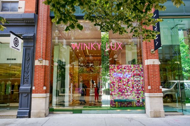 The Winky Lux shopfront.