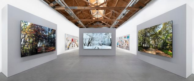 "Installation view of ""Time and More, Space and More…"" at Richard Gray Gallery."
