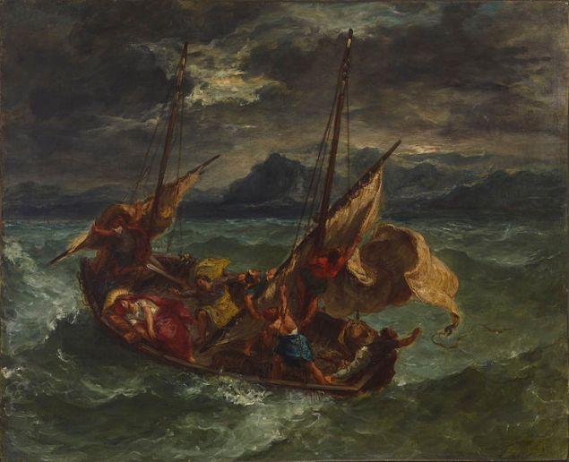 Eugène Delacroix, Christ on the Sea of Galilee.