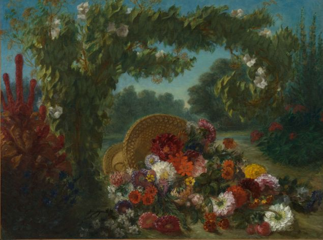 Eugène Delacroix. Basket of Flowers, 1848–1849.