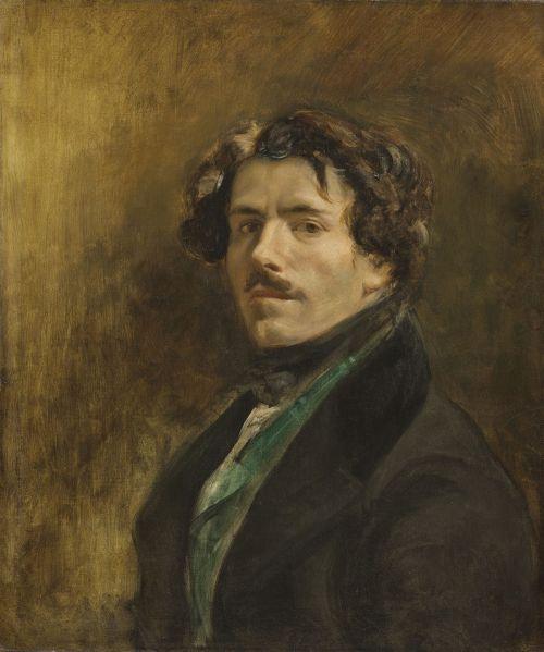 Delacroix, Self-Portrait with Green Vest, ca 1837.