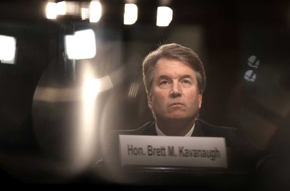 Supreme Court nominee Judge Brett Kavanaugh appears before the Senate Judiciary Committee during his Supreme Court confirmation hearing.