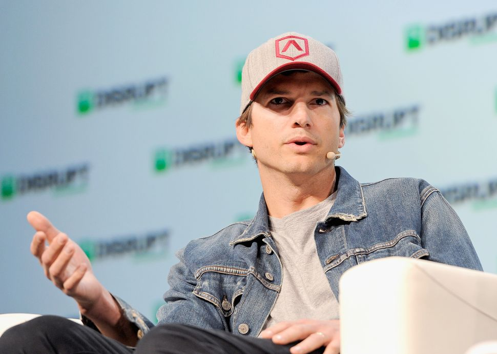 Ashton Kutcher at TechCrunch SF