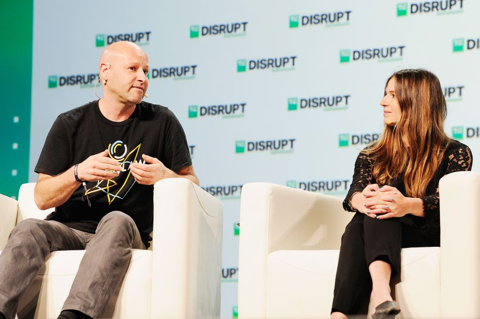 ConsenSys Founder Joseph Lubin (L) and ConsenSys Chief Marketing Officer Amanda Gutterman