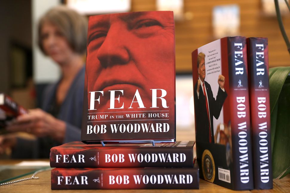 Bob Woodward's 'Fear' is the talk of the publishing industry.