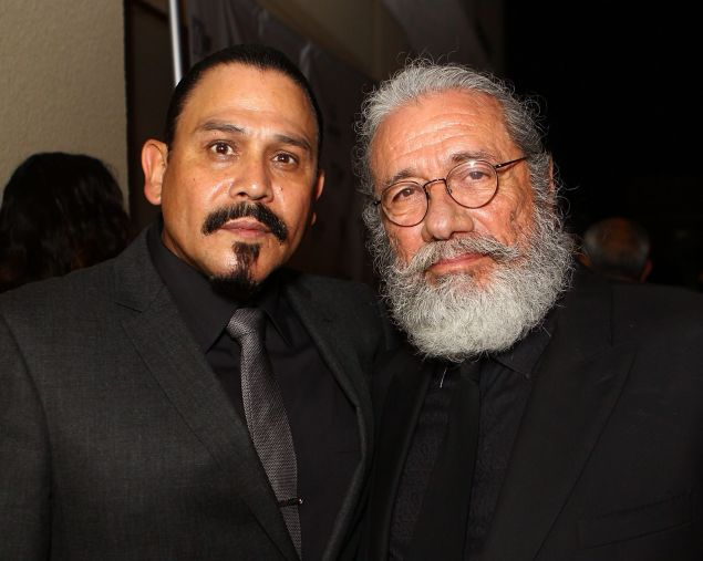 Emilio Rivera and Edward James Olmos at the Hispanic 100 Foundation's 5th Annual Lifetime Achievement Award Gala.
