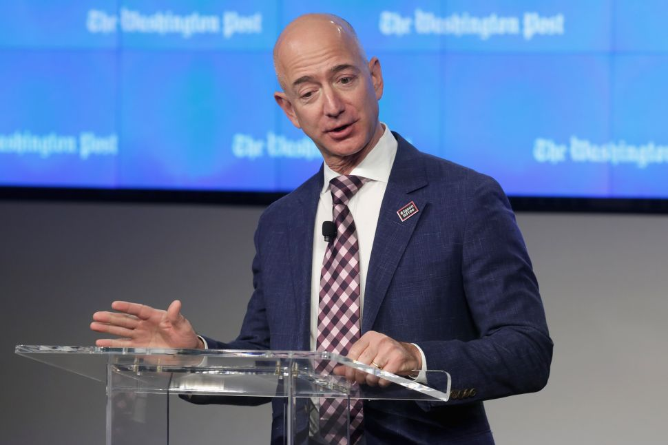 Washington Post owner Jeff Bezos is another tech titan with a media company under his belt.