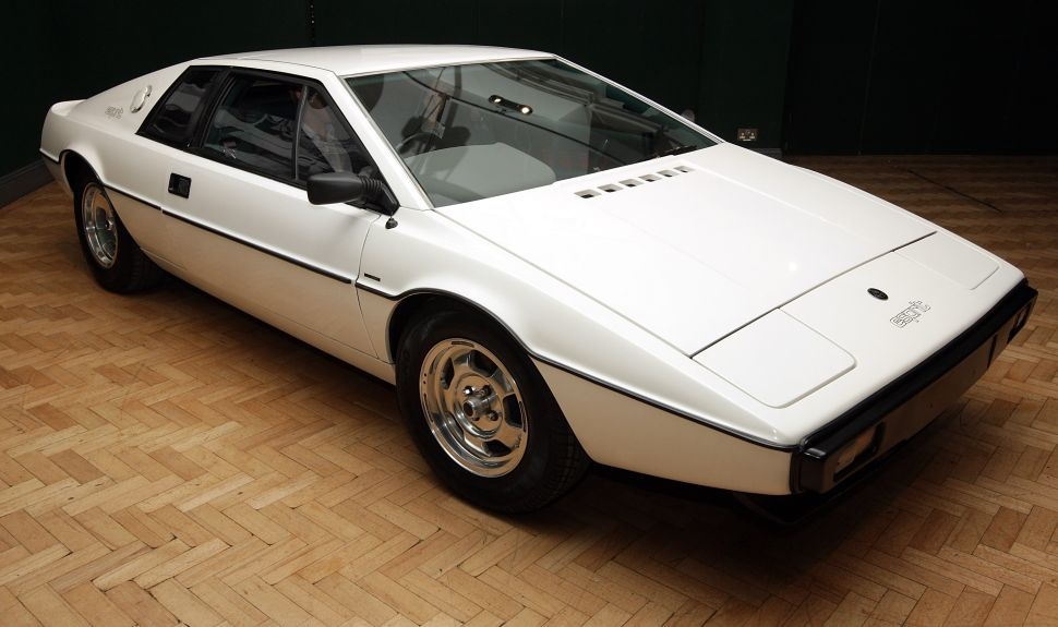 The white 1976 Lotus Esprit car from the 1977 film ' The Spy Who Loved Me.'