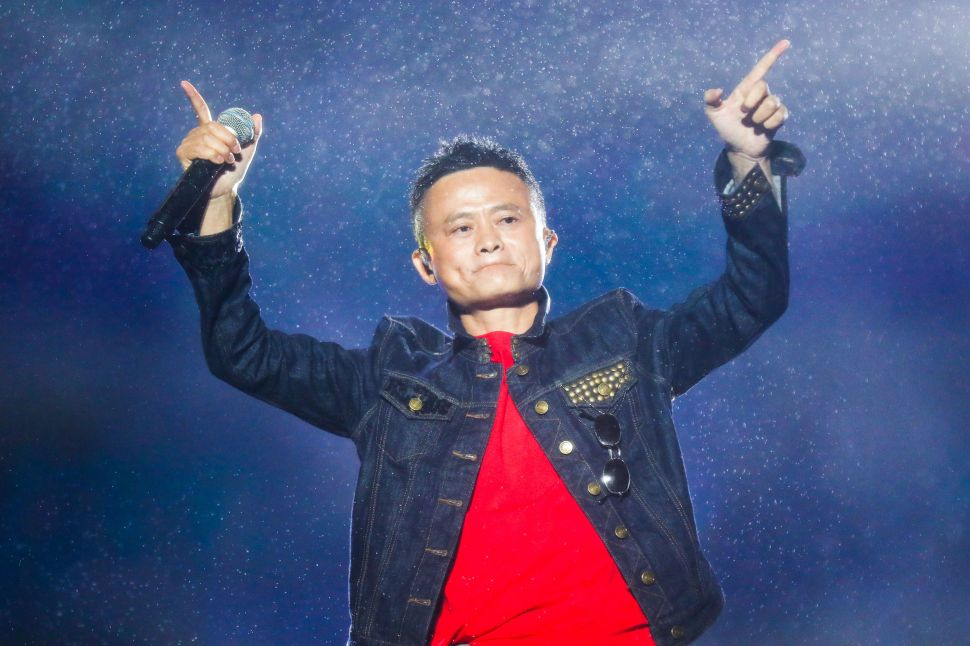 Jack Ma performing at a music festival in Hangzhou, China in October 2017.