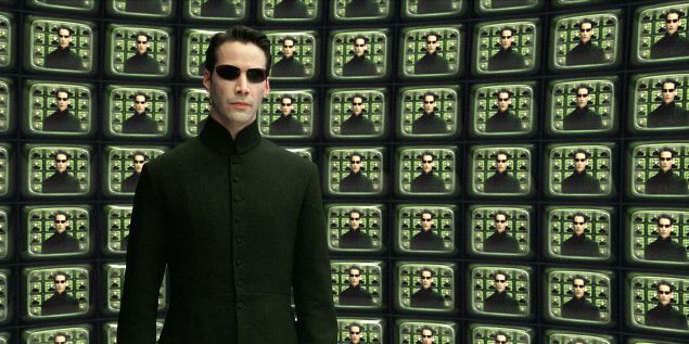 Keanu Reeves in The Matrix Reloaded.