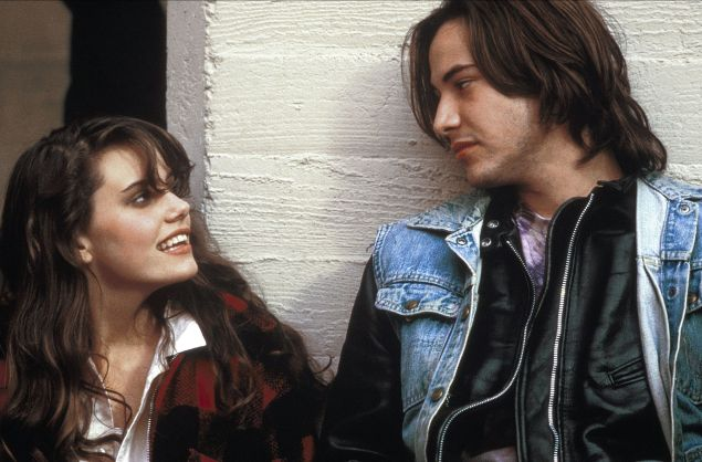 Ione Skye and Keanu Reeves in River's Edge.