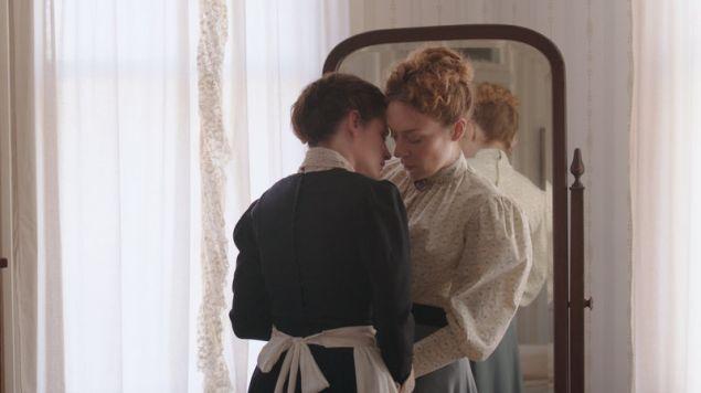 Kristen Stewart and Chloë Sevigny in Lizzie.