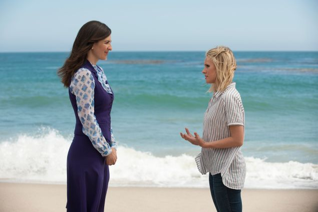 D'Arcy Carden as Janet and Kristen Bell as Eleanor in The Good Place.