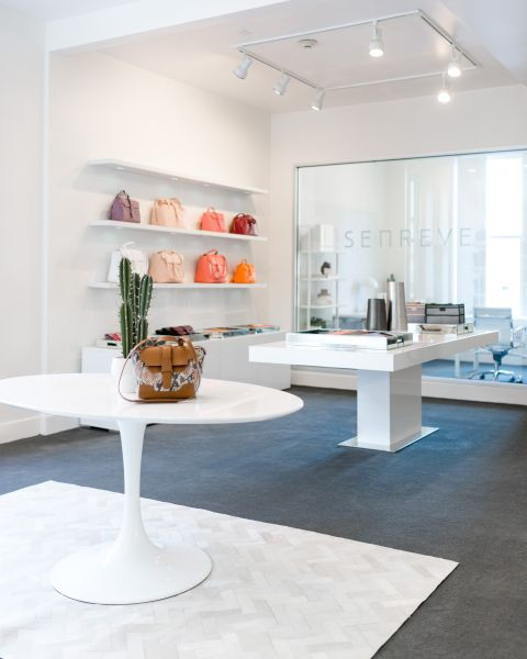 Senreve's first and only showroom, in San Francisco's Union Square.