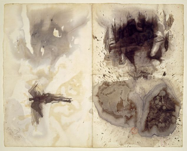 Victor Hugo, Taches (Stains), ca. 1875(?). Black and gray-blue ink and wash on paper.