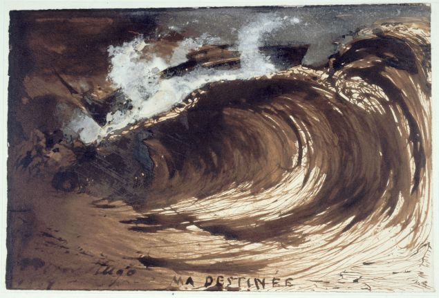 Victor Hugo, Ma destinée (My destiny), 1867. Brown ink and wash and white gouache on paper.
