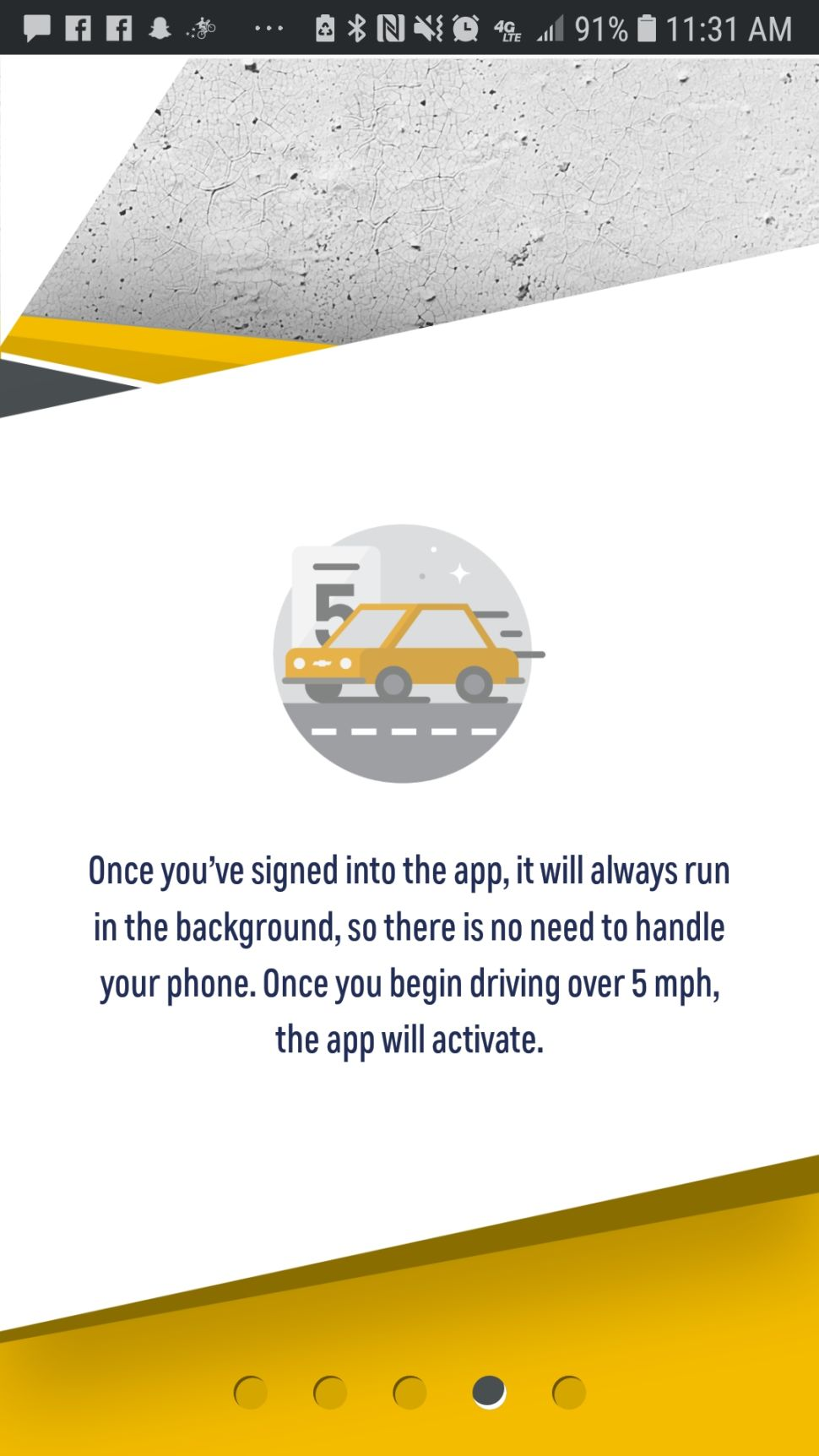 Sorry iPhone users. The Call Me Out app is only available on Android for people who drive over 5 mph.