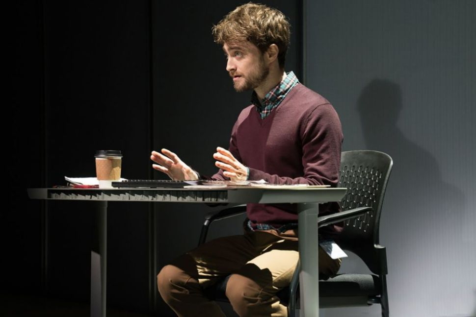 Daniel Radcliffe in 'The Lifespan of a Fact.'