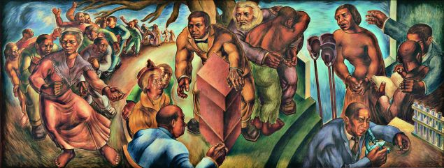 Charles White, Five Great American Negroes, 1939. Oil on canvas.