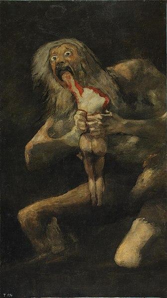 Francisco de Goya, Saturn Devouring His Son, c. 1819–1823.