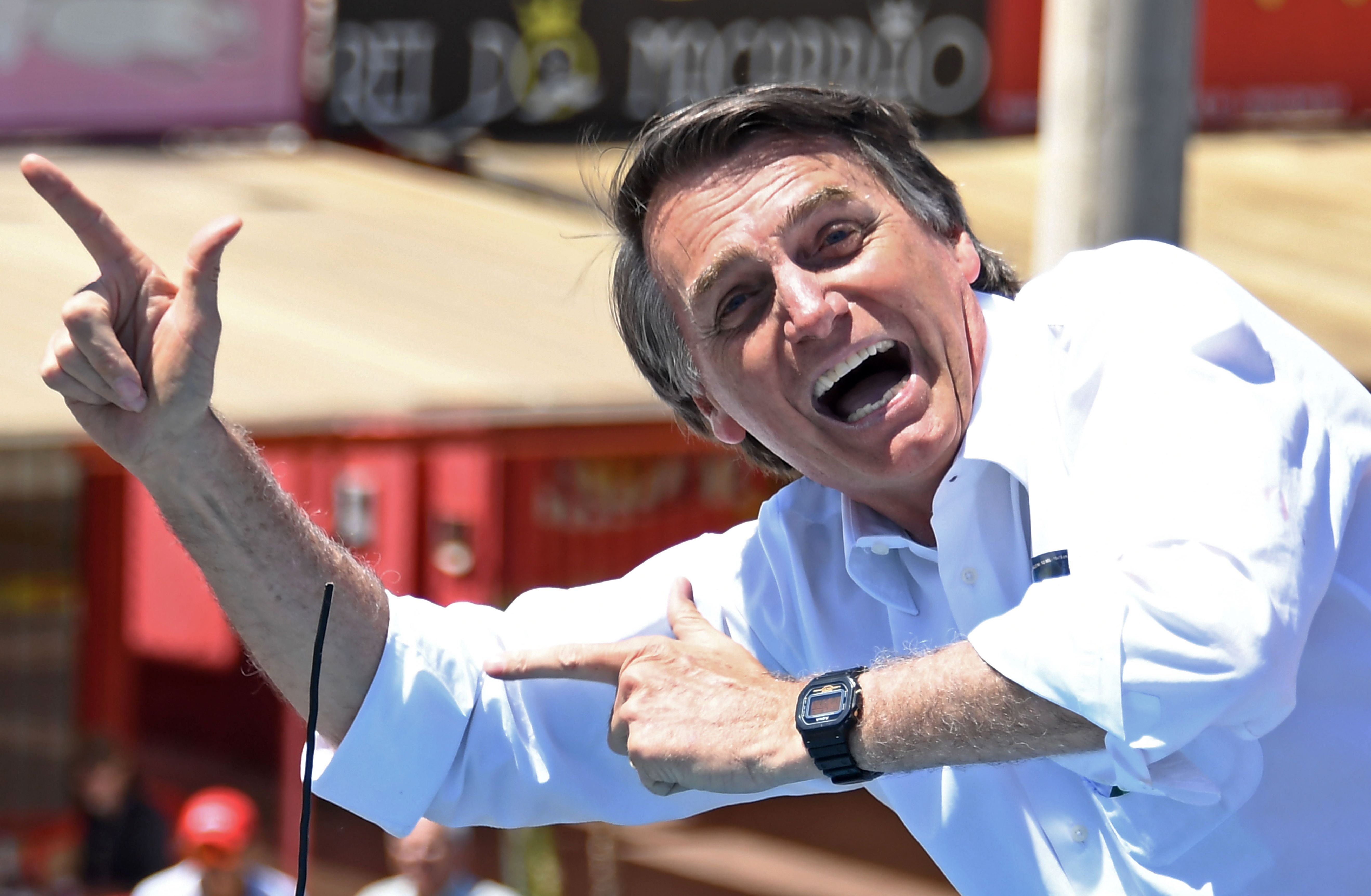 Brazilian right-wing presidential candidate Jair Bolsonaro.
