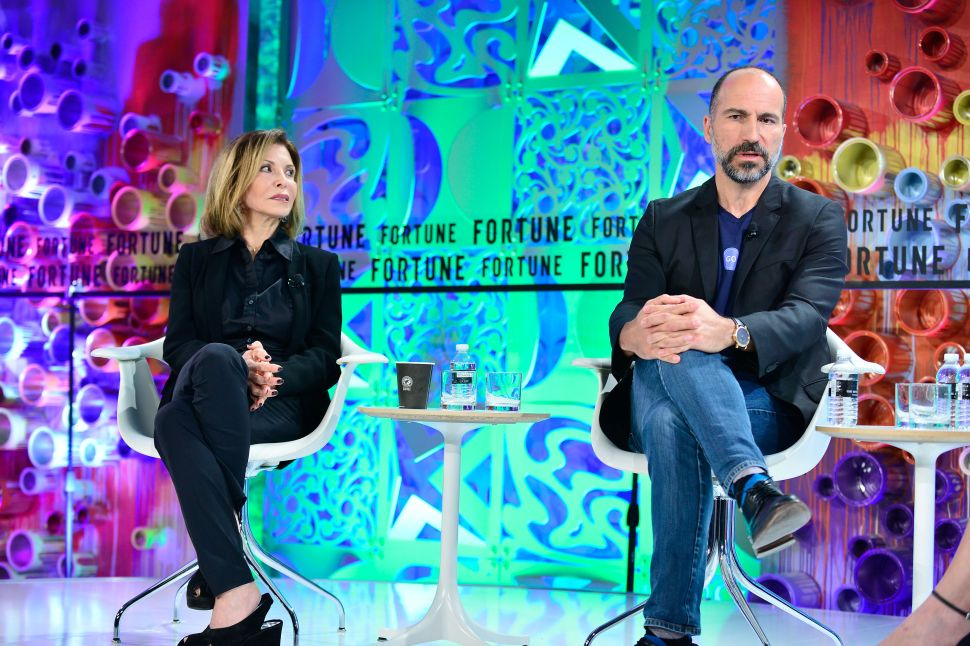 Uber CEO Dara Khosrowshahi and his mother Lili Khosrowshahi