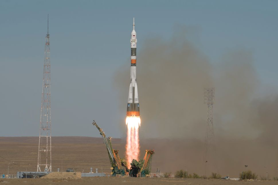 This Soyuz rocket was in the air for only 90 seconds before making an emergency landing.