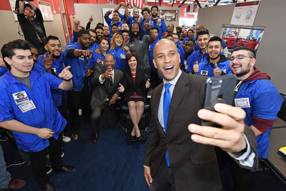Cory Booker is the darling of Silicon Valley.