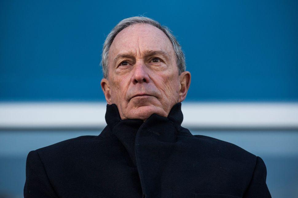 Former mayor of New York City Michael Bloomberg.