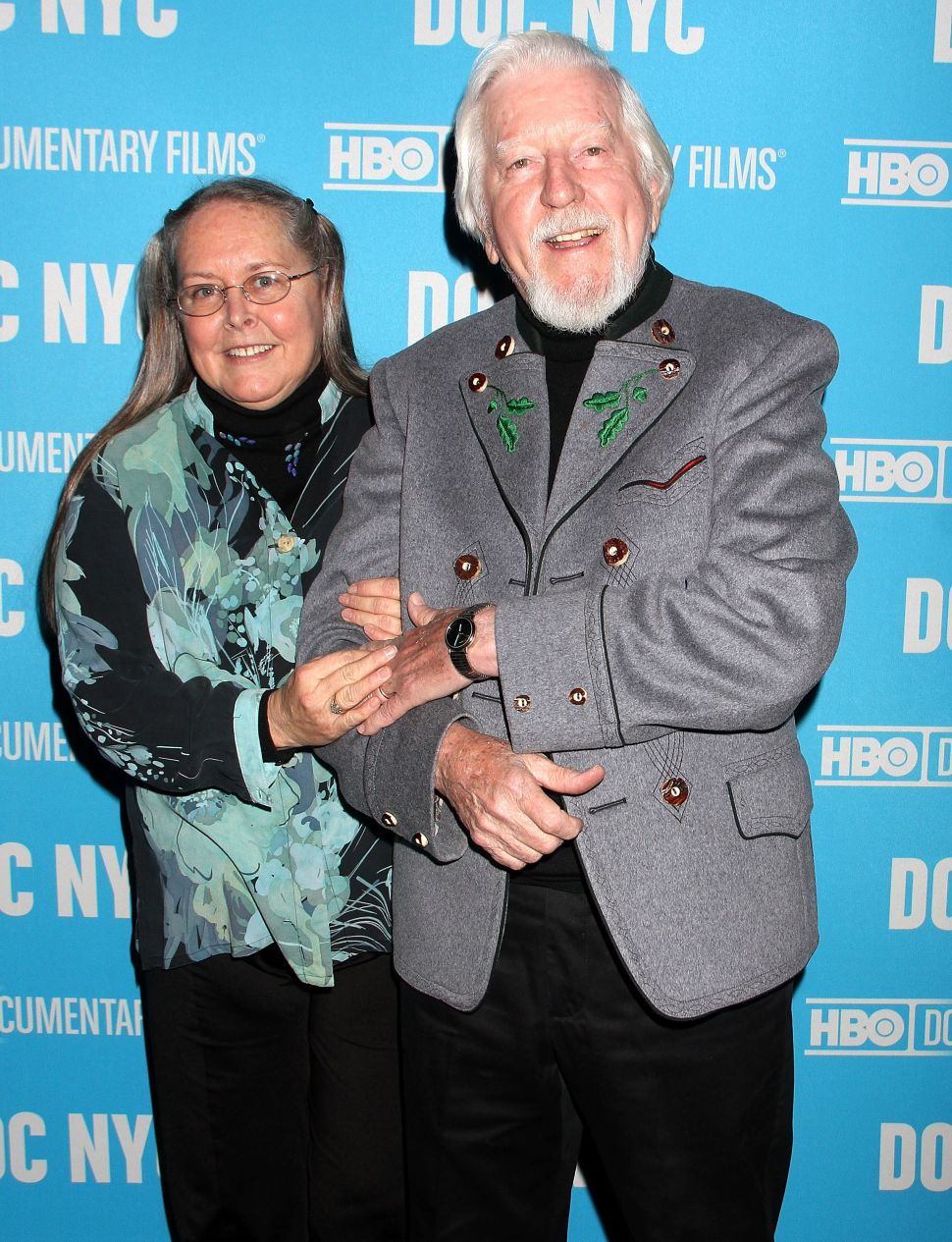 Caroll Spinney and his wife Deb Spinney attend an 'I Am Big Bird' screening in New York City.