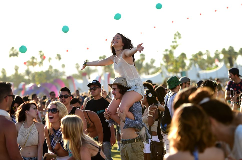 Music fans attend the 2015 Coachella Valley Music & Arts Festival.