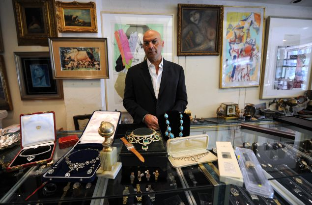 Yossi Dina in his pawn shop in Beverly Hills.