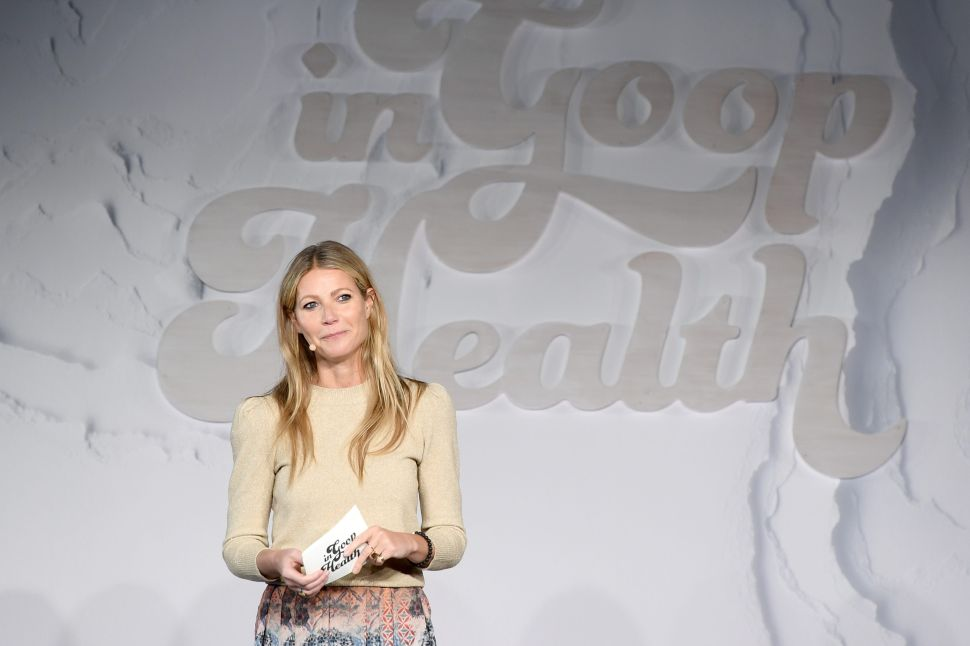 """Gwyneth Paltrow attends the """"in goop"""" Health Summit on January 27, 2018 in New York City."""