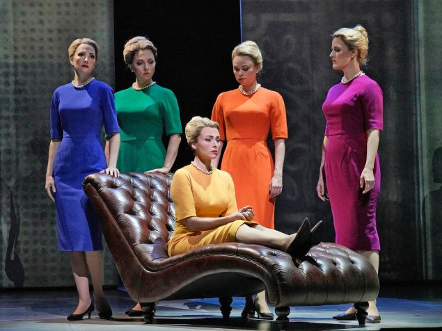 Marnie (Isabel Leonard, seated) delves into childhood trauma at the Metropolitan Opera.