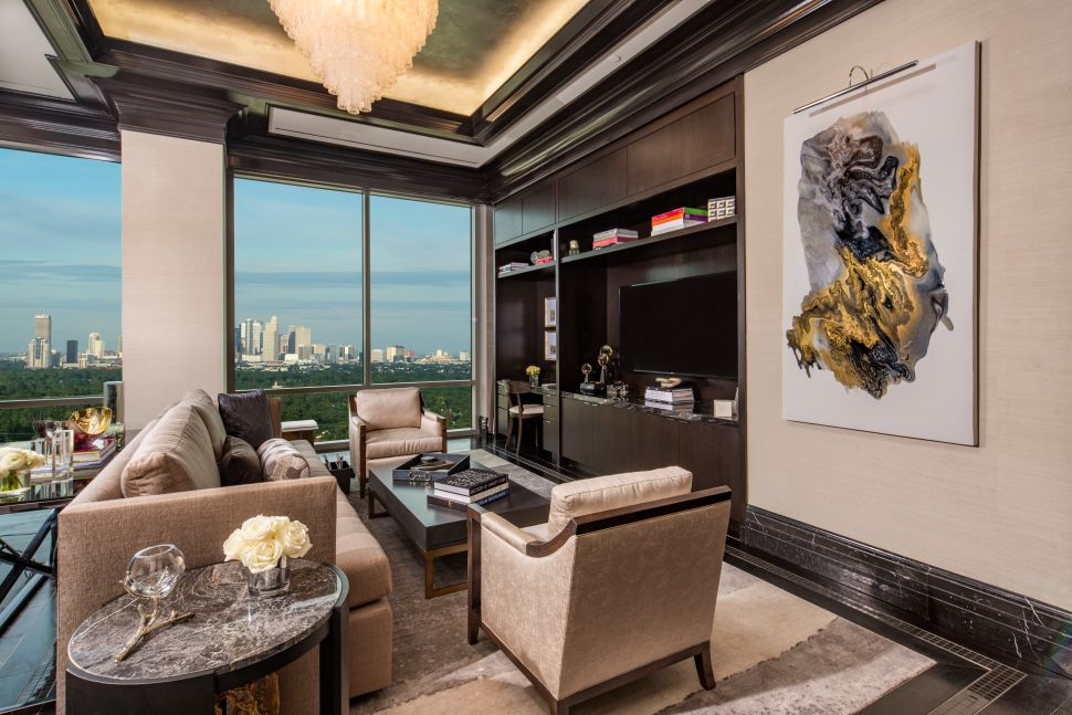 The Post Oak Hotel's Presidential Suite in Houston, Texas.