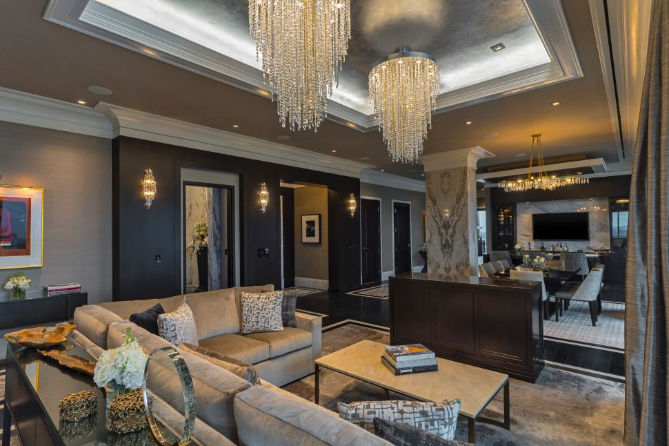 Presidential Suite at the Post Oak Hotel in Houston, Texas.