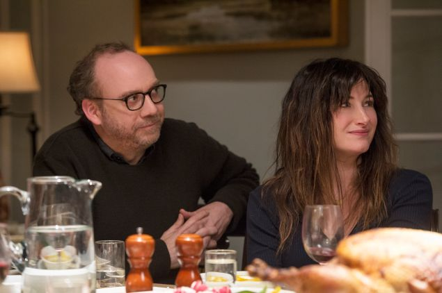 Paul Giamatti and Kathryn Hahn in Private Life.