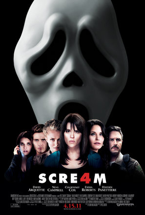 The famous mask seen in the movie poster for Scream 4.