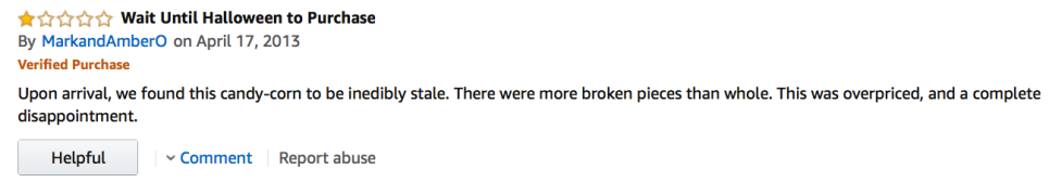 Amazon Candy Corn Review: Poor, Mark and Amber.