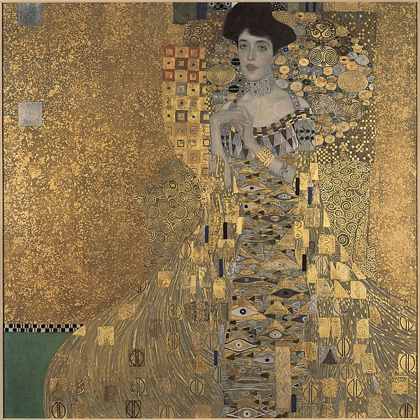 Gustav Klimt's Portrait of Adele Bloch Bauer I, 1907, which was involved in one of the most high-profile and protracted restitution disputes.