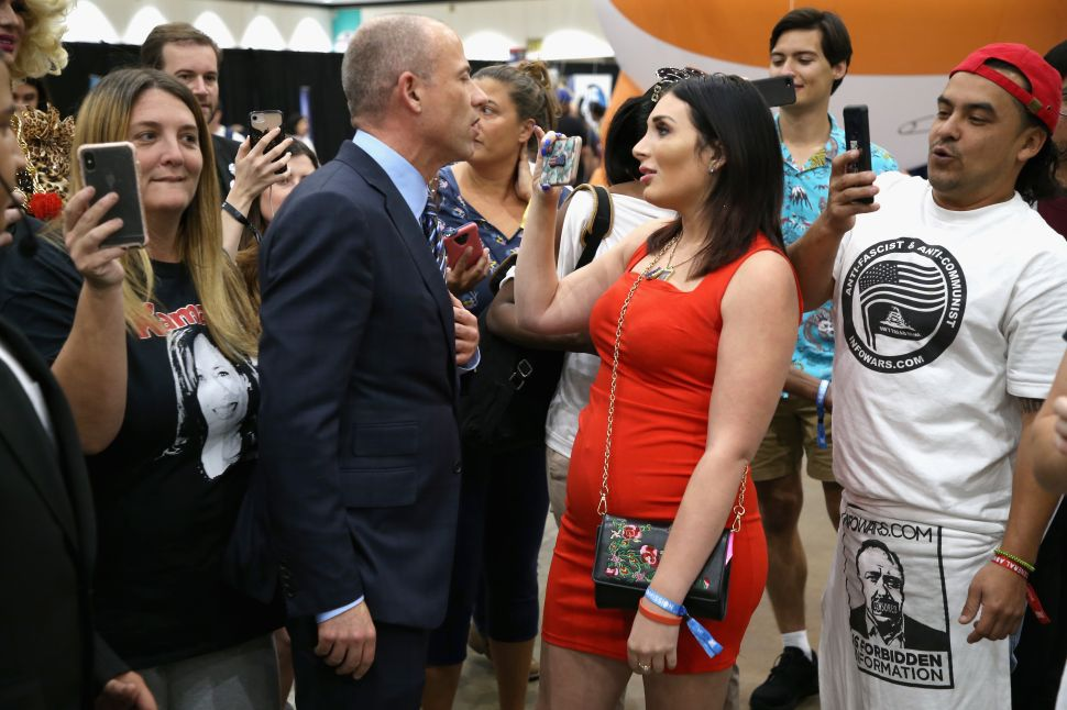 Michael Avenatti and Laura Loomer attend Politicon 2018.