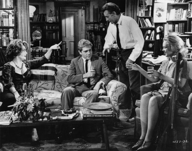 Elizabeth Taylor, George Segal, Richard Burton and Sandy Dennis in Mike Nichols' Who's Afraid of Virginia Woolf, the movie that changed it all.