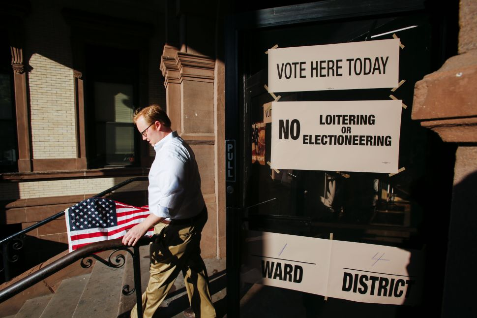 A New Jersey polling station